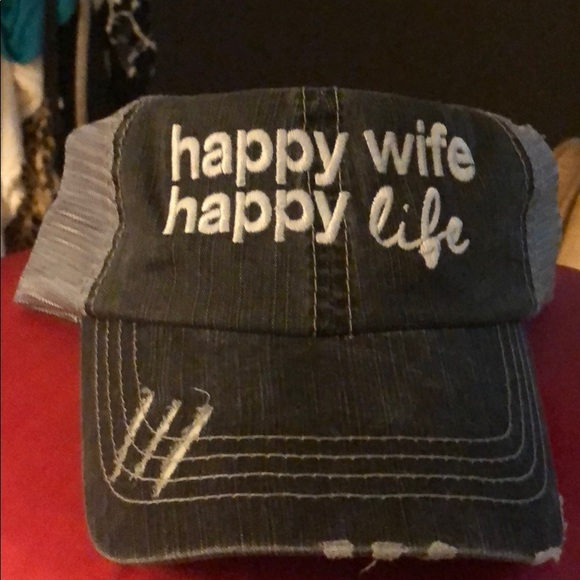 d9061203653 HAPPY WIFE HAPPY LIFE TRUCKER HAT. Boutique. katydid